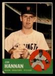 1963 Topps #121 *ERR* Jim Hannan  Front Thumbnail
