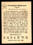 1961 Golden Press #24  Christy Mathewson  Back Thumbnail