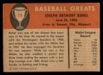 1961 Fleer #119  Joe Kuhel  Back Thumbnail