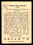 1961 Golden Press #18  Chief Bender  Back Thumbnail