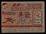 1958 Topps #23 ^WN^ Bill Tuttle  Back Thumbnail
