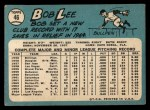 1965 Topps #46  Bob Lee  Back Thumbnail