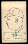 1965 Topps Embossed #18   Gary Peters   Back Thumbnail