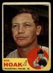 1963 Topps #305  Don Hoak  Front Thumbnail