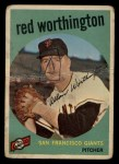 1959 Topps #28  Red Worthington  Front Thumbnail