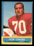 1963 Topps #156  Don Owens  Front Thumbnail