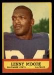 1963 Topps #2  Lenny Moore  Front Thumbnail