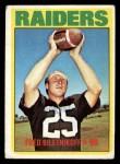 1972 Topps #210  Fred Biletnikoff  Front Thumbnail