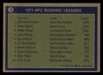 1972 Topps #2   -  John Brockington / Steve Owens / Willie Ellison NFC Rushing Leaders Back Thumbnail