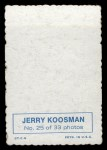 1969 Topps Deckle Edge #25  Jerry Koosman     Back Thumbnail