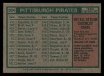 1975 Topps #304   -  Danny Murtaugh Pirates Team Checklist Back Thumbnail