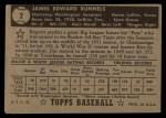 1952 Topps #2 BLK Pete Runnels  Back Thumbnail