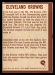 1967 Philadelphia #48   Cleveland Browns Logo Back Thumbnail