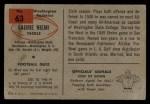 1954 Bowman #63  Laurie Niemi  Back Thumbnail