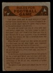 1974 Topps Football Team Checklists #14   Dolphins Team Checklist Back Thumbnail