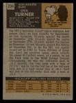 1971 Topps #234  Cecil Turner  Back Thumbnail