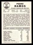 1960 Leaf #21  Pedro Ramos  Back Thumbnail