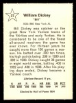 1961 Golden Press #27  Bill Dickey  Back Thumbnail
