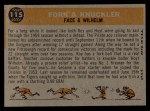 1960 Topps #115   -  Roy Face / Hoyt Wilhelm Fork & Knuckler Back Thumbnail