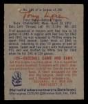 1949 Bowman #141  Tony Lupien  Back Thumbnail