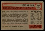 1954 Bowman #6  Nellie Fox  Back Thumbnail
