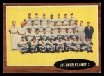 1962 Topps #132 NRM  Angels Team Front Thumbnail