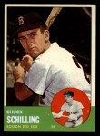 1963 Topps #52 ^COR^ Chuck Schilling  Front Thumbnail
