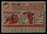 1958 Topps #18  Frank Sullivan  Back Thumbnail