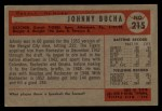 1954 Bowman #215  Johnny Bucha  Back Thumbnail