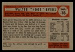 1954 Bowman #18  Hoot Evers  Back Thumbnail