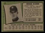 1971 Topps #425  Doug Rader  Back Thumbnail