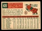 1959 Topps #420  Rocky Colavito  Back Thumbnail