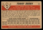 1953 Bowman #42  Tommy Brown  Back Thumbnail