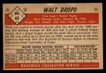 1953 Bowman #45  Walt Dropo  Back Thumbnail