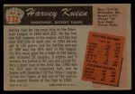 1955 Bowman #132 ERR Harvey Kuenn  Back Thumbnail