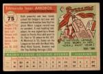1955 Topps #75  Sandy Amoros  Back Thumbnail