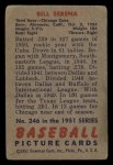 1951 Bowman #246  Bill Serena  Back Thumbnail