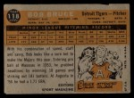 1960 Topps #118   -  Bob Bruce Rookie Star Back Thumbnail