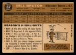 1960 Topps #37  Bill Bruton  Back Thumbnail