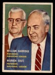 1957 Topps #100  Warren Giles / William Harridge  Front Thumbnail