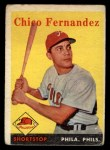 1958 Topps #348  Chico Fernandez  Front Thumbnail