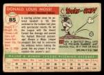 1955 Topps #85  Don Mossi  Back Thumbnail