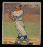 1933 Goudey #155  Joe Judge  Front Thumbnail