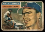 1956 Topps #55  Wally Moon  Front Thumbnail