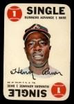 1968 Topps Game #4   Hank Aaron   Front Thumbnail