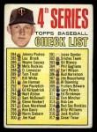 1967 Topps #278   -  Jim Kaat Checklist 4 Front Thumbnail