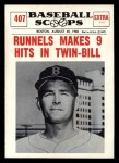 1961 Nu-Card Scoops #407   -   Pete Runnels  Runnels Makes 6 Hits in Twin-Bill Front Thumbnail