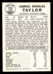 1960 Leaf #131  Sam Taylor  Back Thumbnail