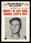 1961 Nu-Card Scoops #413   Dick Groat   Front Thumbnail
