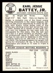 1960 Leaf #66  Earl Battey  Back Thumbnail